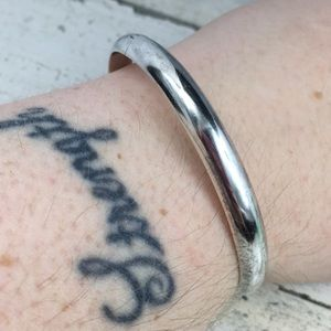Sterling Silver Smooth Bangle Bracelet